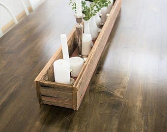 Centerpiece table box- reclaimed wood.