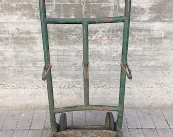 CARRELLO PORTABOMBOLE italiano originale anni '50 in ferro battuto