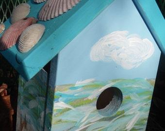 Birdhouse with Seashells