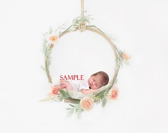 Newborn digital backdrop swing