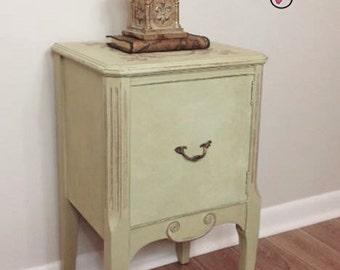 Renaissance-style Vintage Telephone Cabinet Accent Table