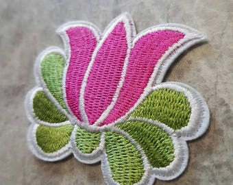 Water Lily Flower Patch Iron on Applique