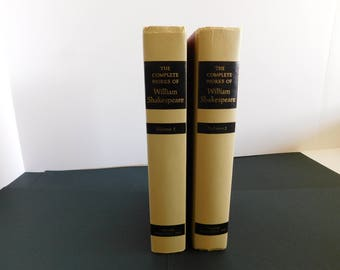 "Shakespeare Books Vintage ""The Complete Works of William Shakespeare"" Volumes one & two"