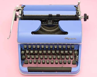 Light purple 50s Olympia typewriter
