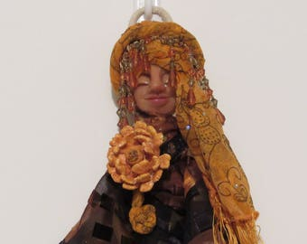 OOAK Art Doll, Handmade Art Doll, Spirit Doll, Folk Art Doll, Mix-Media Doll, Kitchen Witch.. dh