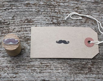Moustache stamp