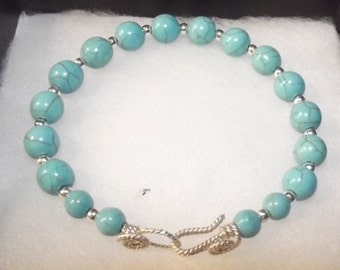 Turquoise & sterling silver bracelet