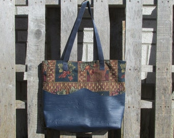 Large Tote Bag Upholstery Flower Baskets