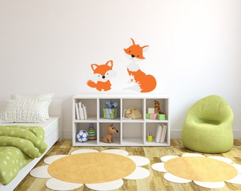Fox Woodland Creature Vinyl Wall Decals Woodland Animals Themed Nursery Wall Decal