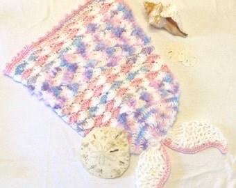 Infant Mermaid Tail Cocoon 0-3 Months Mermaid Tail Blanket Costume