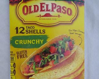 Upcycled Journal Sketchbook Notebook Blank Book- Old El Paso Taco Shells- Hemp Leaf Stab Binding