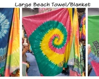 Tie Dyed Beach Blanket/Towel