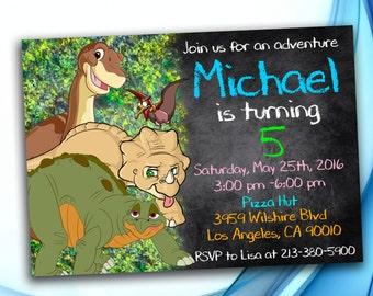 Dinosaur Invitation, Land Before Time Dinosaur Invitation, Dinosaur  Birthday, Land Before Time Dinosaur party, Land Before Time invitation