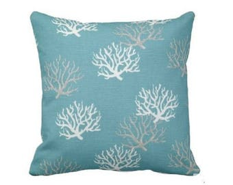 cottage throw pillow - spring pillow cover - spring decorative pillow - sea side pillow - teal throw pillow - aqua throw pillow cover