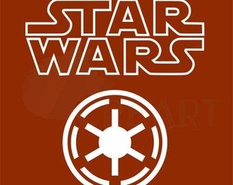 Galactic republic etsy - Republic star wars logo ...
