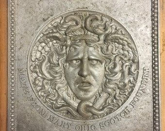 Large Cast Aluminum Medusa Plaque