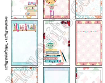 Book, Happy Planner stickers [153] , Full box, A5 PDF, Instant download