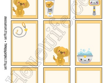 Golden Retriever, Happy Planner stickers [230] , Full box, A5 PDF, Instant download