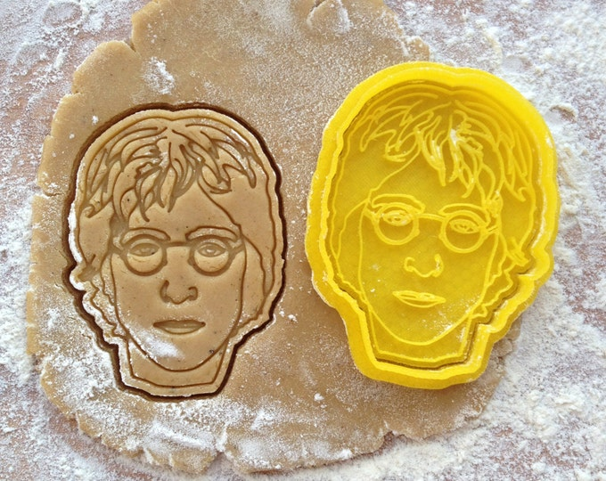 John Lennon face cookie cutter. The Beatles cookie stamp. John Lennon cookies