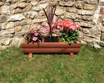 Trough Section Planter, Wooden planters, Garden planter, Outdoor Planters (Free Delivery)