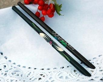 Stocking Stuffer Soviet Souvenir Wooden Ballpoint Pen School Supplies wood pen wooden pen soviet pen eco pen Ethnic pen handpainted pen