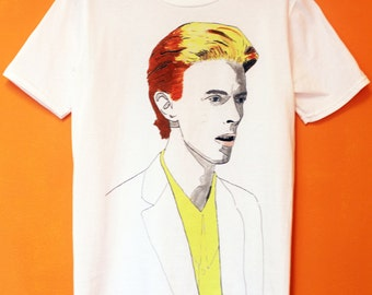 David Bowie T-Shirt - Thin White Duke design by Kurt Wohl - Brand New!!