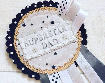 Father's Day Rosette - Superhero, Father's Day Gift, Father's Day,