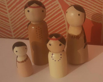 Native peg dolls