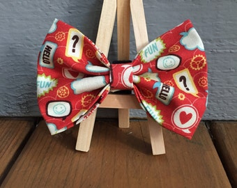 Though bubble bow tie, dog bow tie