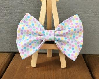 Spring Dot Dog Bow Tie