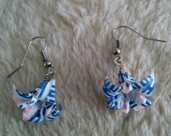 """Earrings """"Lily"""" genuine (C_002)"""
