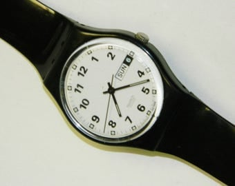 Swatch Orchester vintage swiss quartz plastic watch on time