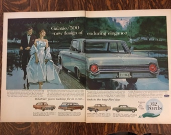 1962 Ford Galaxie Ad from LIFE magazine