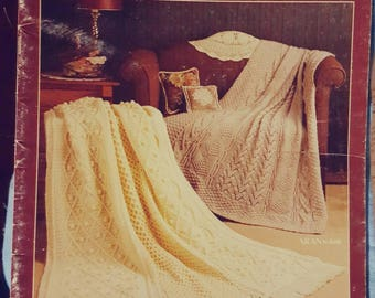 1989 Leisure Arts Leaflet 870 Afghans to Treasure Knitting and Crochet Pattern Leaflet