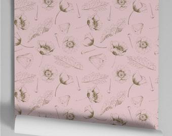 Wallpaper pink Popy