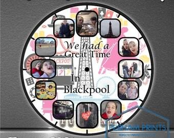 Personalised Blackpool Memories Photo Clock