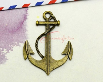 5PCS--56x40mm, Large Anchor Charms, Antique bronze Nautical Anchor Charm pendant, DIY supplies,Jewelry Making LCM0858