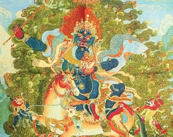 SALE 25% OFF!!! Tibetan Buddhist / gold tapestry / Thangka / Hand Painted Immortal Thangka gift for men gift for woman