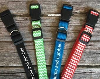 Personalized Collar | Custom Dog Collar| Name on Dog Collar |  Embroidered Collar | Phone Number On Dog Collar | Affordable Custom Collar