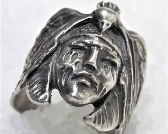 Ttribute ring Johnny Deep, silver The Lone Rangers Tonto, oxidized silver