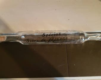 Vintage French Glass Rolling Pin