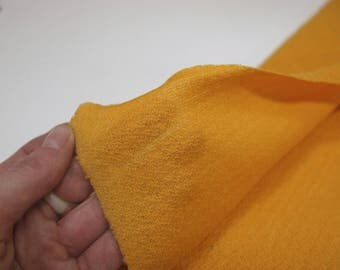 Egg yellow fabric remnant - lightweight wool mix - 130cm x 50cm