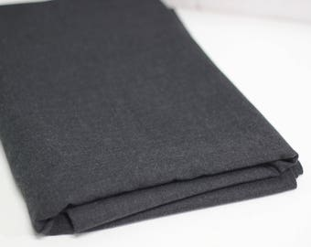 Dark Grey Wool Mix Suiting Fabric