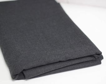 Dark Grey Wool Mix Suiting Fabric