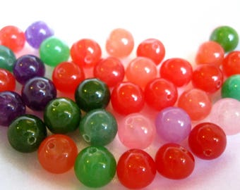 Jade Multi-Color 10mm Beads (36)