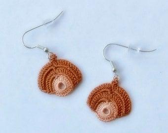 Oya earrings, Ohrringen, oorbellen Turkish lace crochet