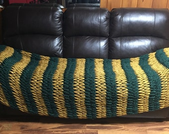 Hunter Green Throw Blanket for Two
