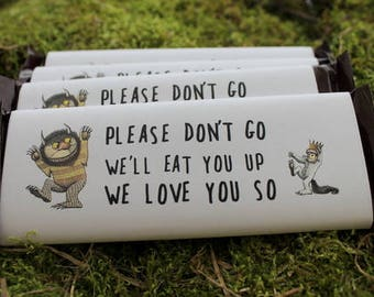Chocolate Candy Bar Favors Where the Wild Things Are themed (6)