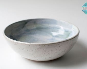 Small Serving Bowl, Pottery Bowl, Bowl, Watercolor Bowl