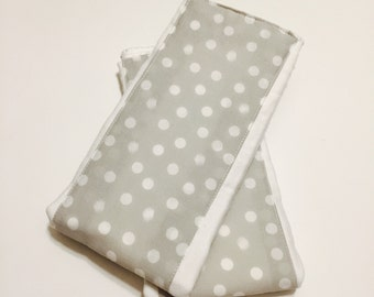 Grey Polka Dot Burp Cloth - Cloth Diaper Burp Cloth - Baby Essential - Baby Shower Gift